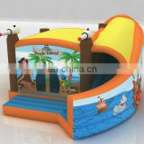 hot sale new pirate inflatable combo with curve slide