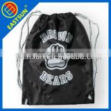 Black cotton sports String shopping bag