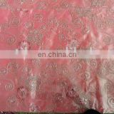 polyster washer taffta cord embroidery fabric
