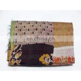 Kantha Scarf Women Wrap Shawl Indian Silk Patchwork Long Dupatta Stole