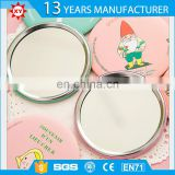 Promotion round plastic mirrors pocket