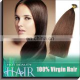 A complete range of length natural keratin hair extensions