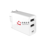 3USB 30W EU Plug Type-C PD Charger , GS CE ROHS Approval PD Adapter , Level VI