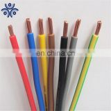Hot sale Soild Copper Wire PVC Cover Red Green Yellow NYA H07V-U H05V-U BV Electric Wire