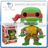 Mini Qute Funko Pop Amine Ninja Turtle Raphael super hero action figures cartoon models educational toy NO.FP 61