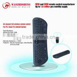 flexible Air Mouse /2.4G RF keyboard remote control for Android system, PC, Smart TV and IPTV