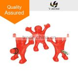 Wine Stopper and Opener Set, Includes Three Cute Red Men of Novelty Bottle Opener, Corkscrew and Stopper