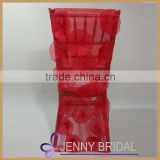 C002M China factory direct price with flower rosette chair cover wedding,wedding decoration chair