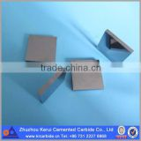 high impact resistance hardened tool of Solid grinding tungsten carbide tip cutter in size of 25*25*3~8mm with high quality