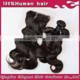 Qingdao elegant hair cheap and fine popular style top quality high density 6A grade custome lace closure