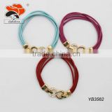 Circle Leather Style Cord rhinestone Bracelet for Best gifts