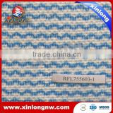 Wavy Line Printed Viscose and Polyester(PET) Nonwoven Fabric Roll for household cleaning