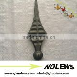 Decorative wrought iron fence finials , iron fence decoration , iron fence edging