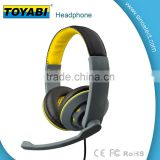 2015 most popular headset wired line-in mic headset stereo computer headphone on-ear headphone
