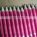 2012 hot sales 7inch HB heat plastic mantle Helo Kitty pattern pencil with eraser