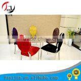 2015 new wedding banquet stainless steel chair more color fabric dining chair for wedding/hotel