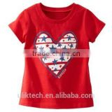 red love tshirt Custom Print Shirts Apparel tops for children