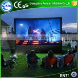 Outdoor giant inflatable rear projection screen inflatable movie screen for backyard                                                                                                         Supplier's Choice