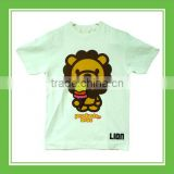 Products Bros Baby Lion Eating Colorful Ice-cream Men Cotton Printed Short Sleeve White Tee
