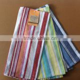 100% cotton plain weave stripe tea towel made in china