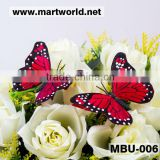 Wholesale artificial colorful feather butterflies wedding decoration;Delicate feather butterfly garland for event&party(MBU-006)