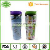 Promotional Double Wall Stainless Steel tumbler mug with newest advertising paper insert