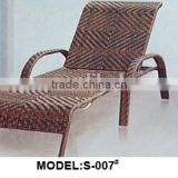 Modern and stylish outdoor leisure rattan/wicker beach chaise lounger