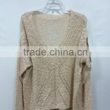 2015 new arrival bat sleeve round neck sequin decoration cashmere sweater , fashion custom sweaterChina wholesale