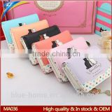 Multi color selection Short brand woman fancy clutch purse Girls Students cat change wallets