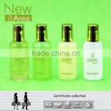 golden cap transparent hotel mini conditioning shampoo bottle hot sale
