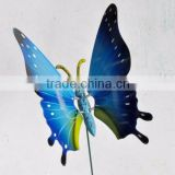 8 Inch Funny Gift for Children Garden Home Ornament Plastic Butterfly Decorative Sticks, Animal Decoration Garden Stakes