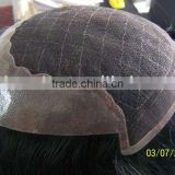100% Indian remy hair men toupee