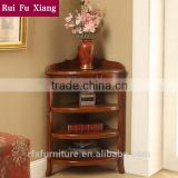 Wooden flower stand with multi layers for storage and for living room corner furniture S-208