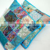 Indian Decorative Throw Pillow Cases Handmade Patchwork Cushion Cover
