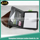 New arrivals wall mount document holder, A4 file document holder leather calculator position