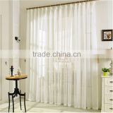 Pure White Embroidered Sheer Voile Curtain                                                                         Quality Choice