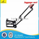 Foldable design 2 wheels airport passenger baggage trolleys/trolley