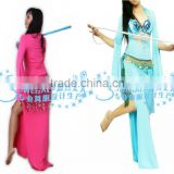 SWEGAL rose belly dance costumes long sleeve performance dress for ladies SGBDT13020