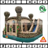 hot sale used inflatable jumper house with slide, kids playground PVC material combo type for sale