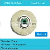 22mm unmounted dental laboratory white goat hair brushes for composite materials