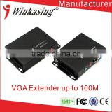 Manufacture direct price good quality OEM 100m VGA Extender with Audio over CAT 5E/6 Ethernet