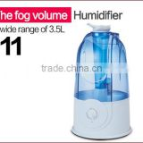 Humidistat control ultrasonic humidifier piezoelectric transducer