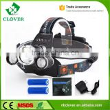 3pcs cree xml t6 led rechargeable high brightness 5000 lumens dual light source rechargeable led headlamp                                                                                                         Supplier's Choice