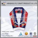 Durable hot sale jacquard acrylic football fan scarf