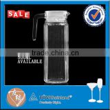 high quality 1 liter white lid clear glass water jug set                                                                                                         Supplier's Choice