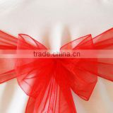 Beautiful red organza sashes