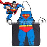Super Man Apron Novelty Personality Design Captain America Cartoon Couples' Kitchen Apron Waist Cloth