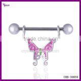 Gay Body Jewelry 16g Surgical Steel Beautiful Nipple Ring