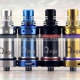 Hot selling e-cig omega rba wholesale in stock airflow control vs honeycomb tank, mini mad hatter