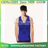 New Design Men's Bodybuilding Gym Singlet Slim Fit Sport Printed Tank Tops
